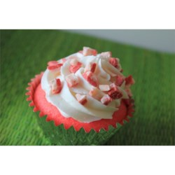 Candy Cane Cupcakes....aka Sweetheart Cupcakes...made with Peppermint oil