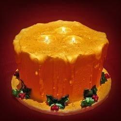 Melting Centerpiece Candle Cake