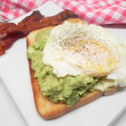 avocado toast with egg printer friendly