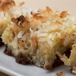 Coconut Cake Bars Recipe