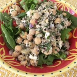 tuna and chickpea salad printer friendly