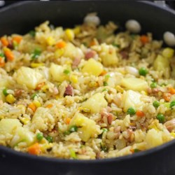 Pineapple Fried Rice with Ham