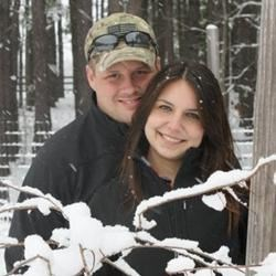 My Husband and I Playing in the Snow