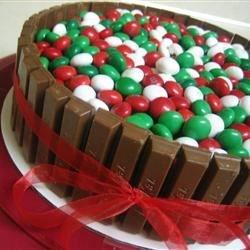Kit Kat and Mint M&M Cake