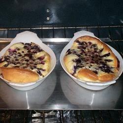 Puffed Blueberry Pancakes Recipe