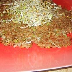Gingery Mung Bean Sprouts Pancake