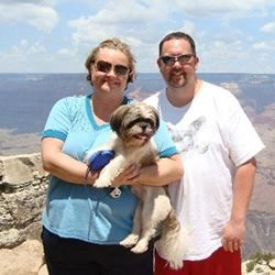 Jeremy, Hercules, and me at the Grand Canyon