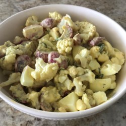 Low-Carb Cauliflower and Turnip 'Potato' Salad