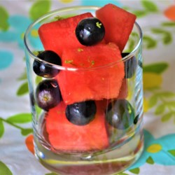 watermelon salad with grapes and citrus printer friendly