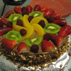 Fruit Torte Using Four Egg Yellow Cake