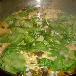 Cooking the Spinach and Leek White Bean Soup