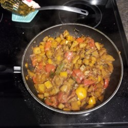 bell pepper tomato and potato indian curry printer friendly