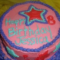 Birthday Cake with buttercream icing