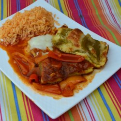 Hatch Chile Relleno Casserole with Ranchero Sauce