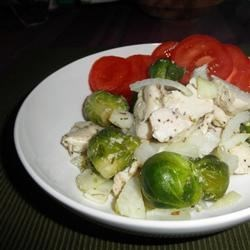 Baked Chicken & Brussels Sprouts