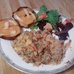 Cheesy Beef Rice Bake