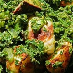 Photo of Aloo Palak (Stir-Fried Indian Potatoes and Spinach) by Cody Harris