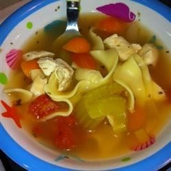 Roasted Chicken Noodle Soup