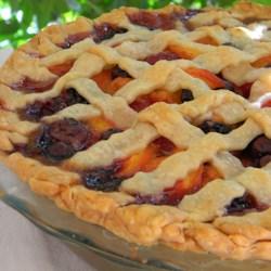 summer is here triple berry peach pie recipe photos