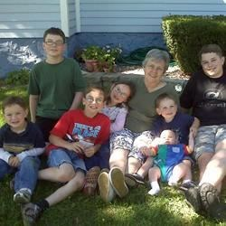 Gramma Sandie and grandkids