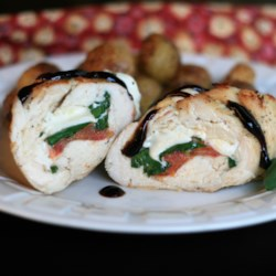 caprese stuffed chicken breast with balsamic reduction printer