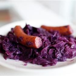 Polish Sausage with Red Cabbage Recipe