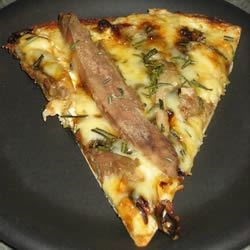 Duck and Fontina Pizza With Rosemary and Caramelized Onions Recipe