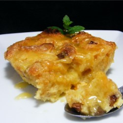 Panettone Bread Pudding with Spiced Orange Sauce Recipe