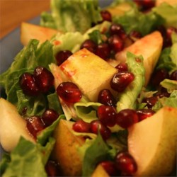 Pear and Pomegranate Salad Recipe
