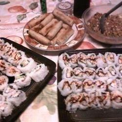 Sushi,Fried Rice and Lumpia