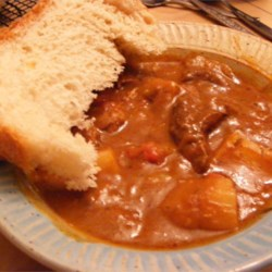 Savory Stew and Homemade Bread