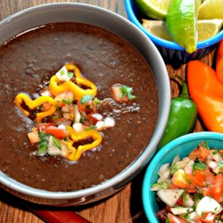 Instant Pot® Spicy Black Bean Soup (Vegan)