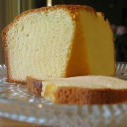 Southern Style Pound Cake Ingredients