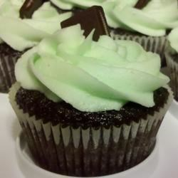 Photo of Mint Buttercream Frosting With Dark Chocolate Glaze by Brenda Benzar Butler