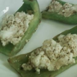 Grilled Bell Peppers with Goat Cheese