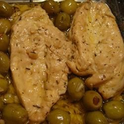 Chicken Breasts with Olives Recipe