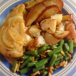 Maple Apple Chicken and Sauteed Green Beans