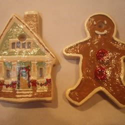 Decorated dough ornaments