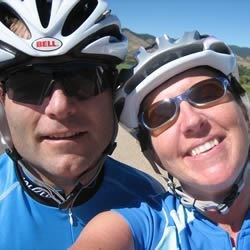Me and my hubby on a summer ride