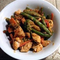 Photo of Spicy Honey-Mustard Chicken Stir-Fry by Taste of Home Test Kitchen