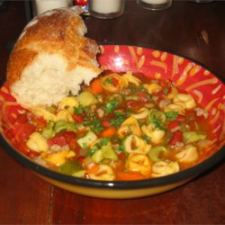 Italian Sausage Tortelini Soup