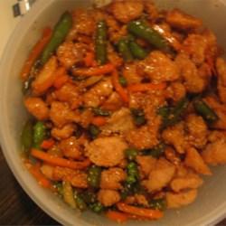 Delicious sesame chicken