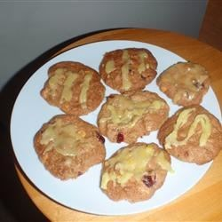 Crazy Yummy Cranberry Pecan Cookies with Orange Glaze |
