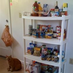 Dave's new pantry shelves