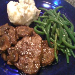 Pan Fried Filets with Mushroom Sauce