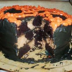 EASY Halloween chocolate orange cake