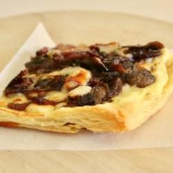 Savory Mushroom, Onion, and Bacon Puff Pastry Tart