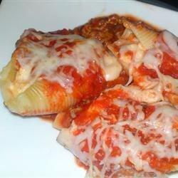 Stuffed Shells III with meat sauce
