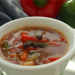 Easy Chicken Fajita Soup |