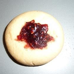 Canadian Shortbread Thumprint cookie.